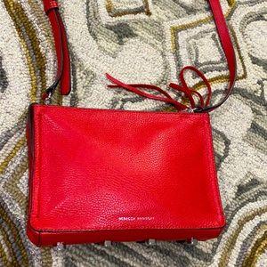 💕Rebecca Minkoff red leather shoulder bag EUC 💕